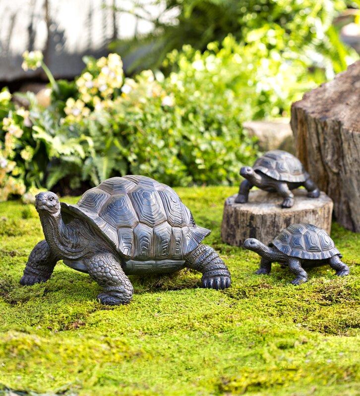 Wayfair Garden Statues: Plow & Hearth Tortoise Family Resin Garden Accents Statue