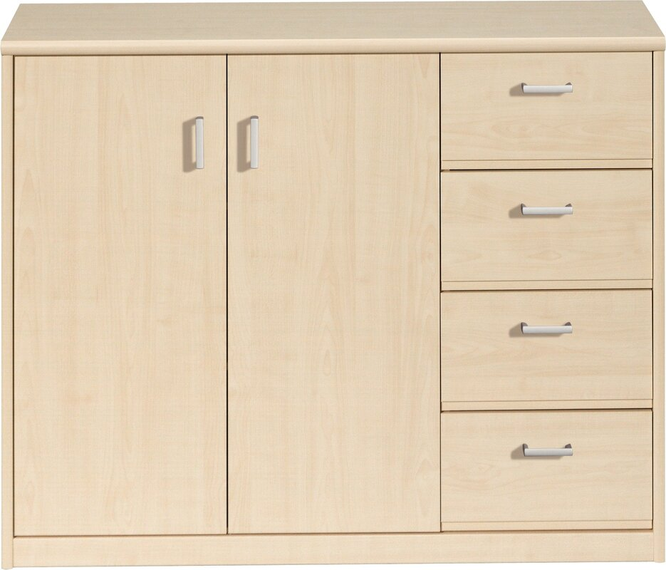 Soft Plus 4 Drawer Combi Chest