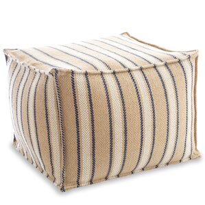 Cambridge Indoor/ Outdoor Pouf Ottoman by Fresh American