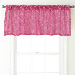 Geometric Pink Valances Kitchen Curtains
