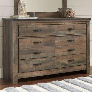 Tyrel 6 Drawer Double Dresser Easy To Assemble Dresser E32