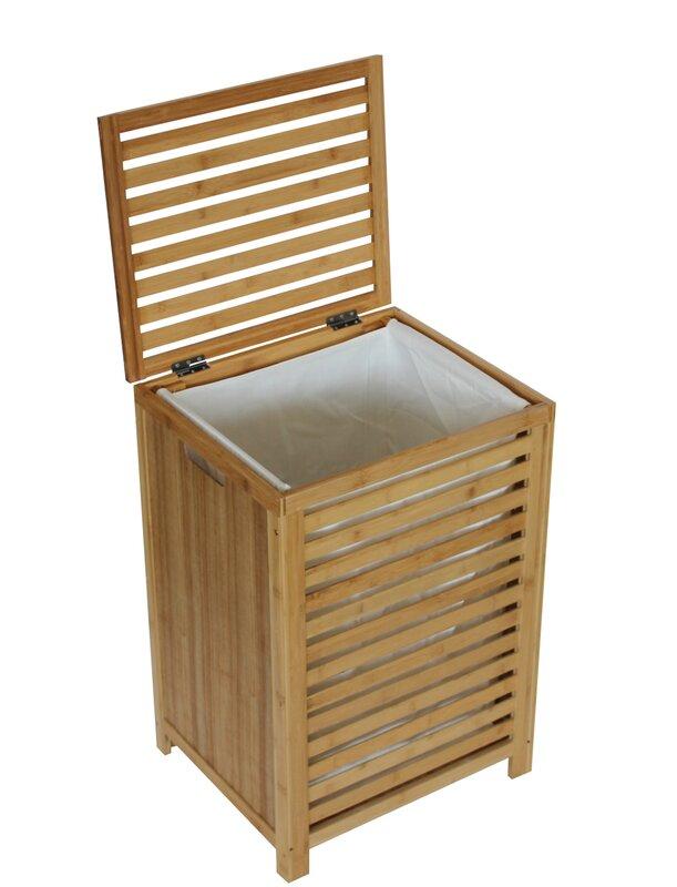 Gallerie decor spa cabinet laundry hamper reviews wayfair for Decoration armoire salon