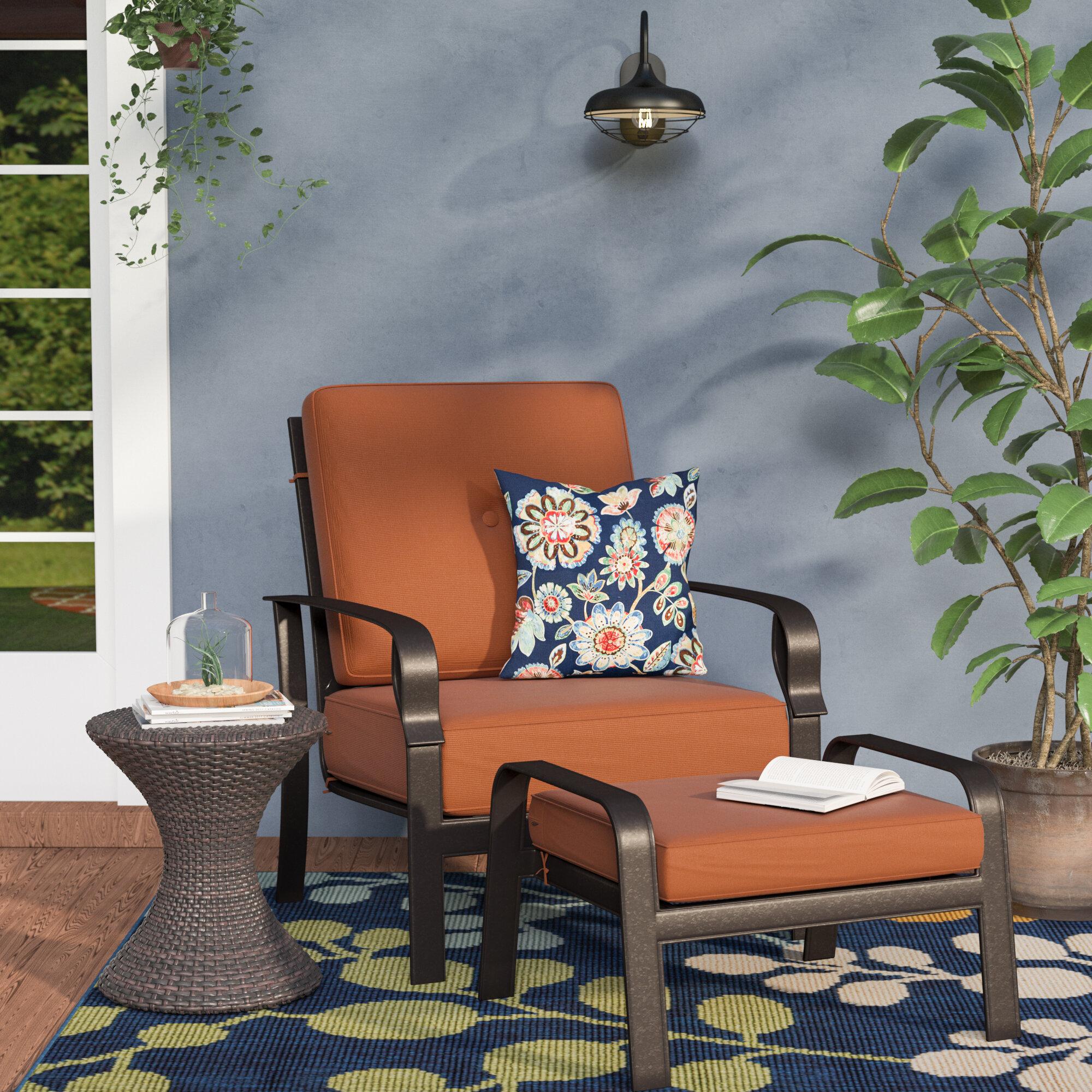 Merveilleux Red Barrel Studio Waynesburg Deep Seating Club Chair U0026 Ottoman With  Cushions U0026 Reviews | Wayfair