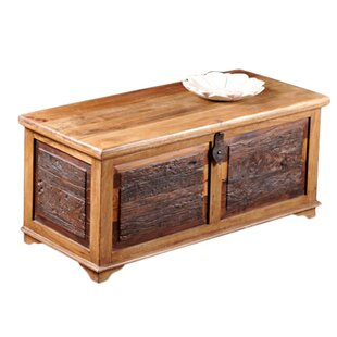 Bentonite Rustic Blanket Box / Trunk Coffee Table