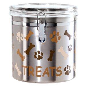 Stainless Steel Airtight 4.06 qt. Pet Treat Jar
