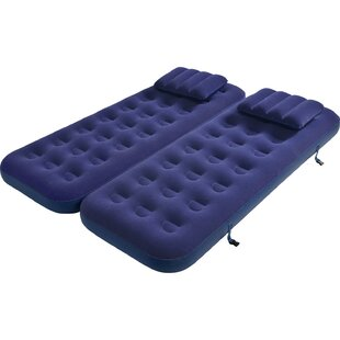 3 In 1 Inflatable Flocked 9 Air Mattress With Pillows