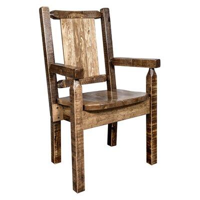 Genial Katlyn Rustic Captainu0027s Solid Wood Dining Chair