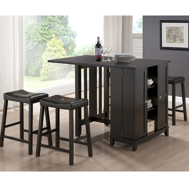 Wholesale Interiors Baxton Studio Aurora 5 Piece Dining Table Set ...