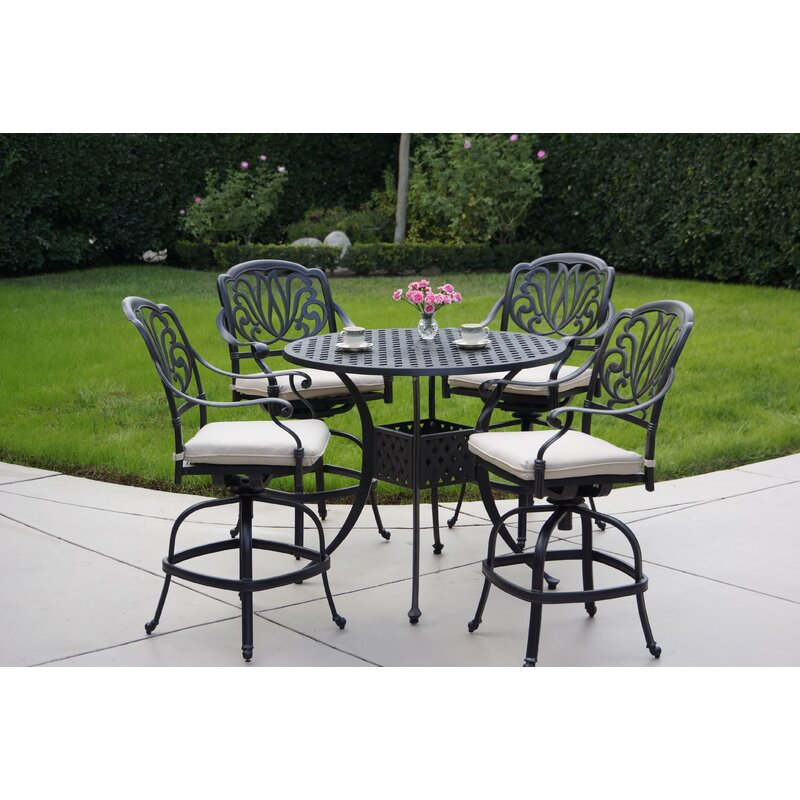 Darby Home Co Keyes 5 Piece Dining Set with Cushions
