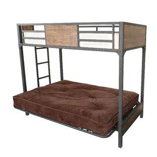 kids bed twin over futons futon full kimball fingerhut boone bunk akia
