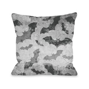 Flying Bats Throw Pillow