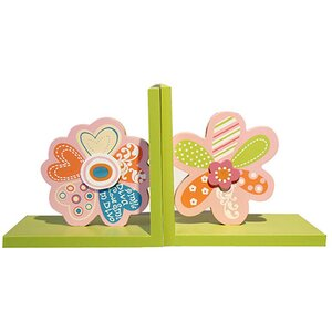 Decorative Child's Wood Book Ends (Set of 2)