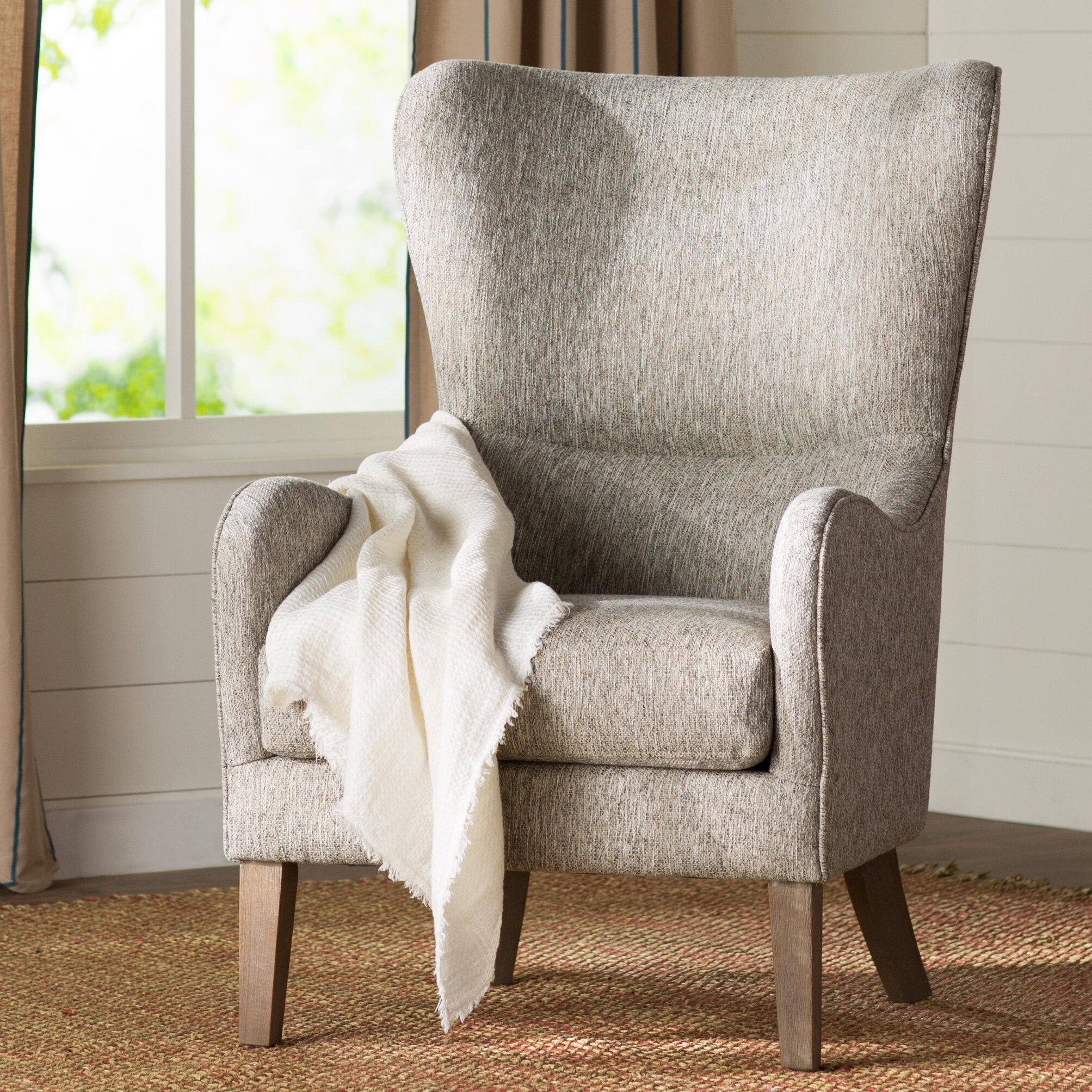 Laurel Foundry Modern Farmhouse Granville Swoop Wingback Chair U0026 Reviews |  Wayfair