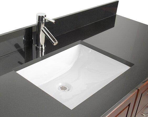 D Vontz Ceramic Rectangular Undermount Bathroom Sink With Overflow Reviews Wayfair