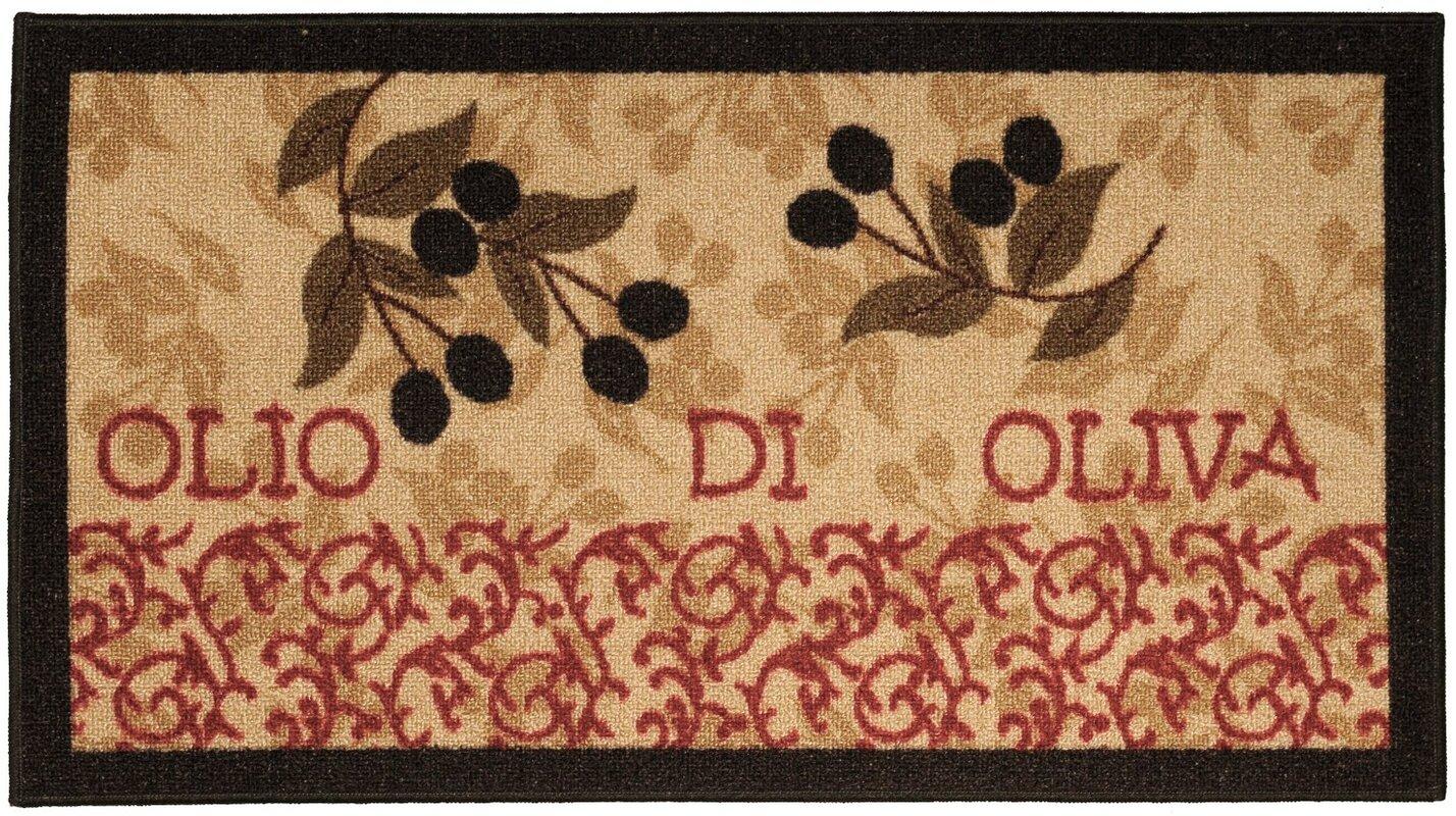 Fleur De Lis Living Birdsview Italian Olive Garden Kitchen Mat ...