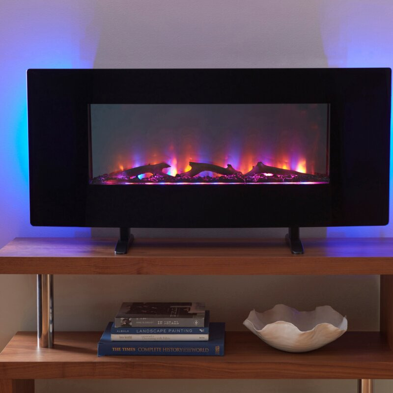 Firefly Led Wall Mounted Electric Fireplace Reviews Wayfair