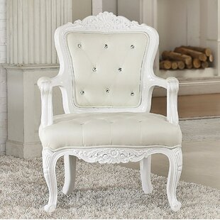 Good Locking Resin And Wood Accent Armchair