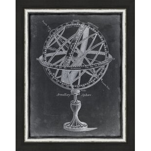Trends Armillary Sphere On Charcoal I Framed Graphic Art