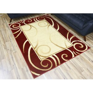 Elif/Passion Red Area Rug