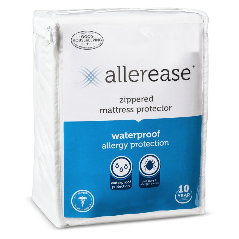 Allergy Zippered Hypoallergenic Waterproof Mattress Cover