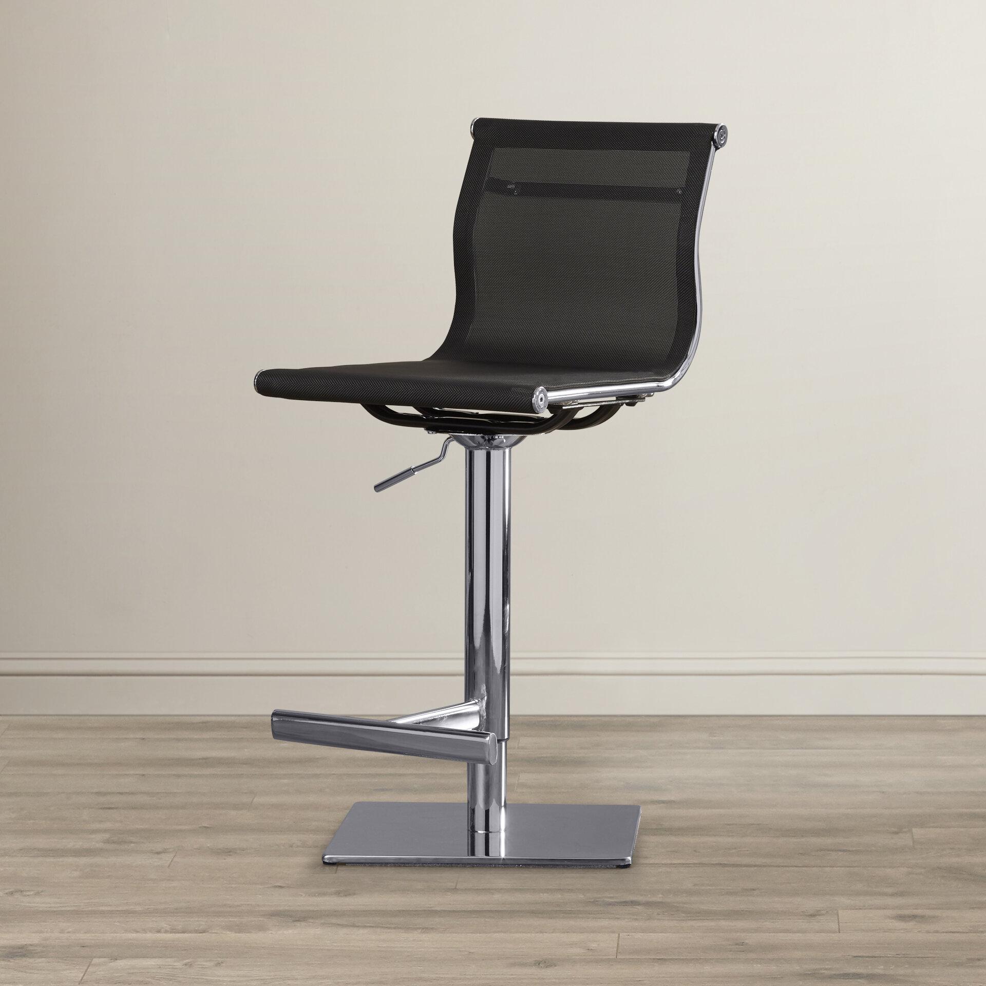 sunpan modern urban unity travis adjustable height bar stool wayfair