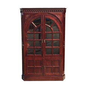 Ordinaire Alim Victorian Corner Glass Accent Cabinet