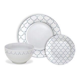 Blackstone 12 Piece Dinnerware Set Service for 4  sc 1 st  Joss \u0026 Main & Coastal Dinnerware Sets \u0026 Place Settings | Joss \u0026 Main
