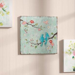 love birds canvas wall art wayfair
