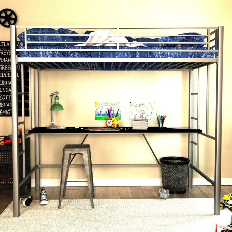 Myrtle Twin Loft Bed With Desk Amp Reviews Birch Lane