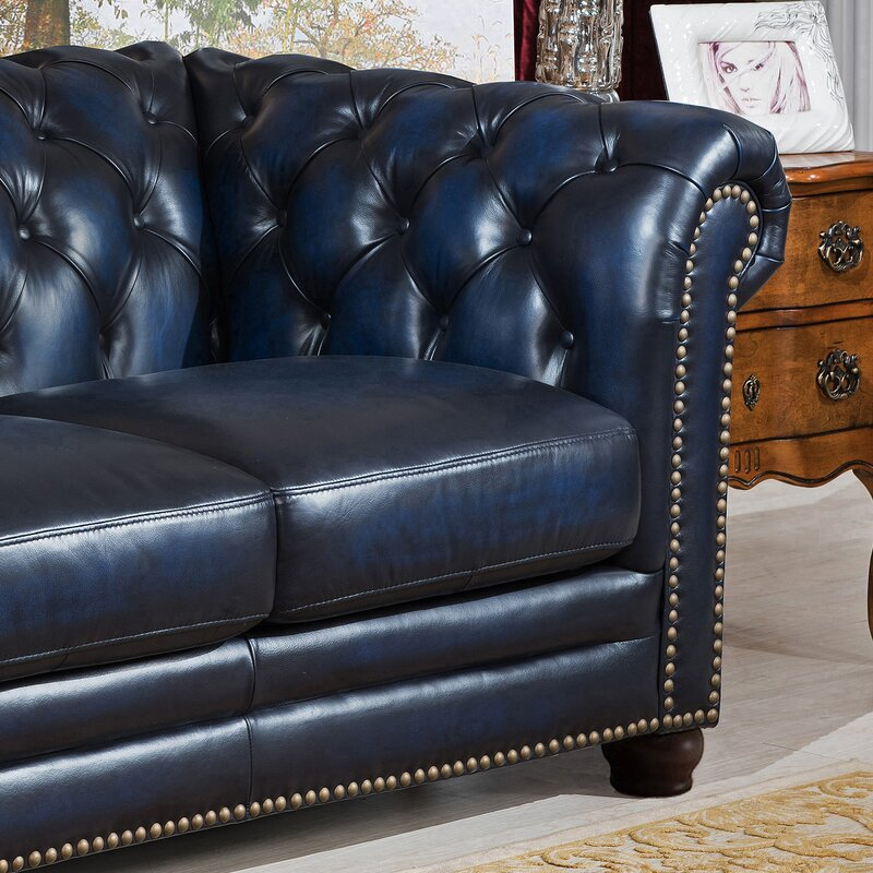 Amax Nebraska Leather Chesterfield Sofa & Reviews | Wayfair