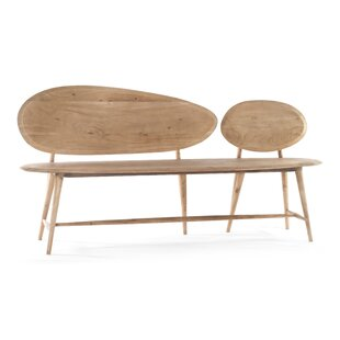 Melva Pebble Wood Bench