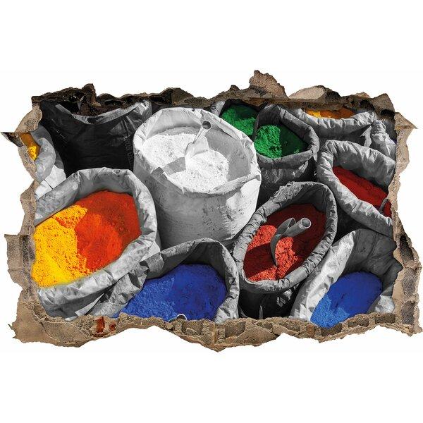 Pixxprint wandtattoo bunte farben f r holi festival for Bunte stehlampen