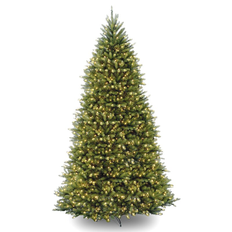 fir 12 hinged green artificial christmas tree with 1500 clear lights - 10 Christmas Tree