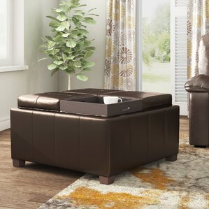 Barton Hill Square Storage Ottoman by Latitu..