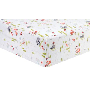 Winter Woods Deluxe Flannel Fitted Crib Sheet
