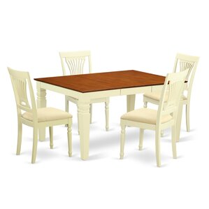 Eastham 5 Piece Dining Set by Rosecliff Heights
