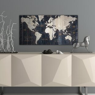 Graphic art prints map wall art youll love wayfair old world map blue graphic art on wrapped canvas gumiabroncs Images
