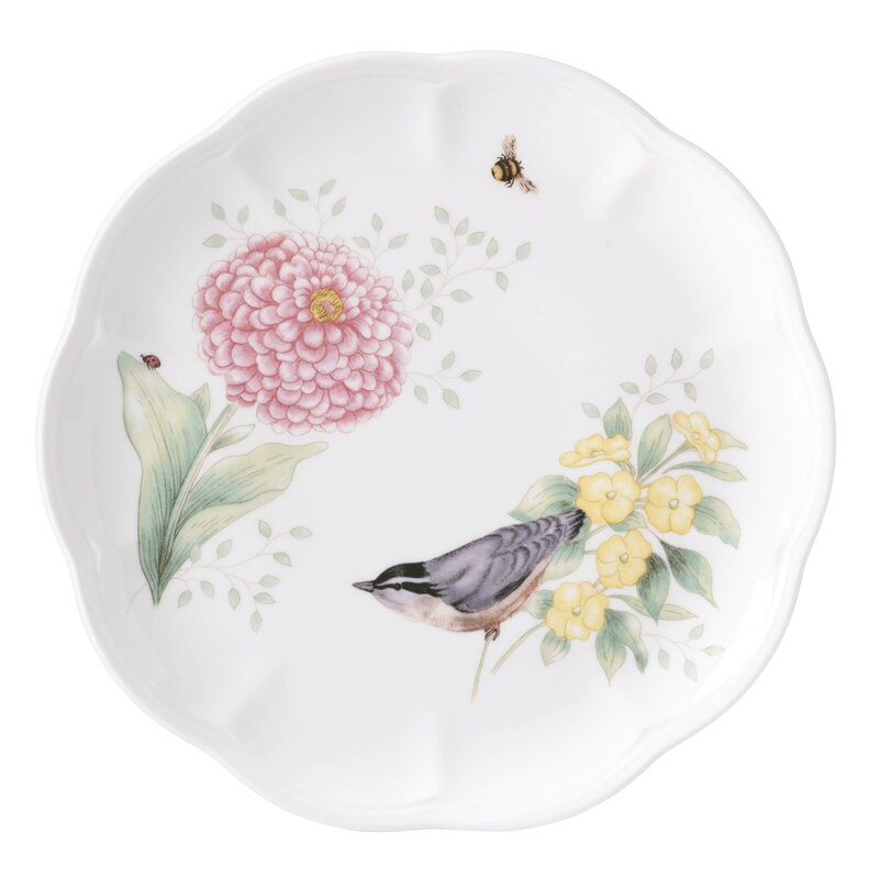 Butterfly Meadow Flutter Gold Finch 9  Dinner Plate  sc 1 st  Wayfair & Lenox Butterfly Meadow Flutter Gold Finch 9