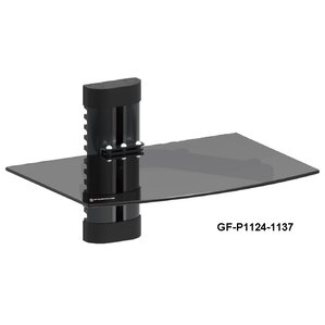 GForce DVD Player Shelf Wall Mount with Tempered Glass and Aluminum by GForce