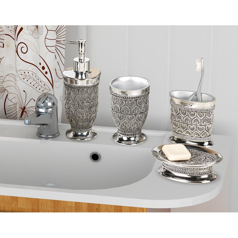 Rosdorf Park Mercado 4 Piece Bathroom Accessory Set & Reviews