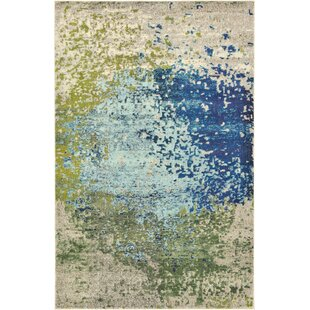 Hayes Blue Green Area Rug