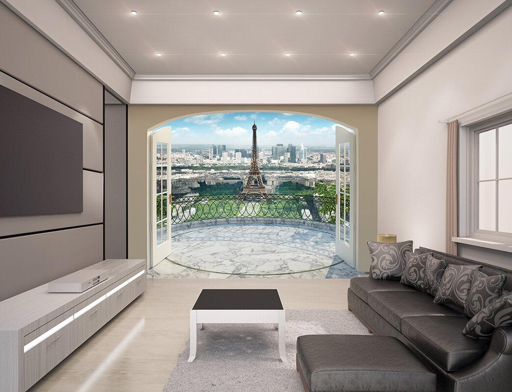 WallPops Eiffel Tower in Paris Wall Mural Wayfair
