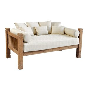 Tahoe Reclaimed Teak Day Bed with Cush..