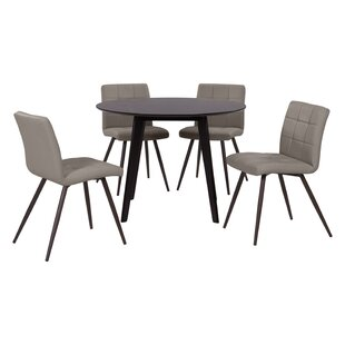 Elena 5 Piece Solid Wood Dining Set