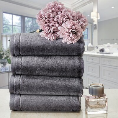 100% Cotton Hand Towel Creative Scents Color: Gray
