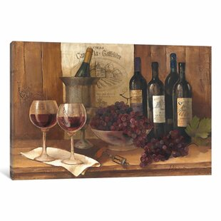 e52f8d1ef Vintage Wine Graphic Art on Wrapped Canvas