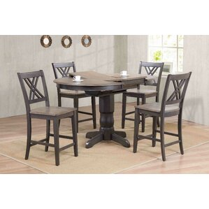 Double X- Back Counter Height 5 Piece Pub..