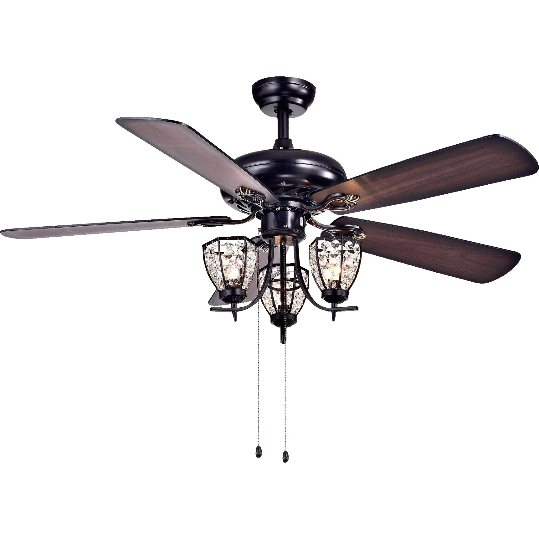 warehouse of tiffany mirabelle 3 light under cabinet branched ceiling fan light kit reviews. Black Bedroom Furniture Sets. Home Design Ideas