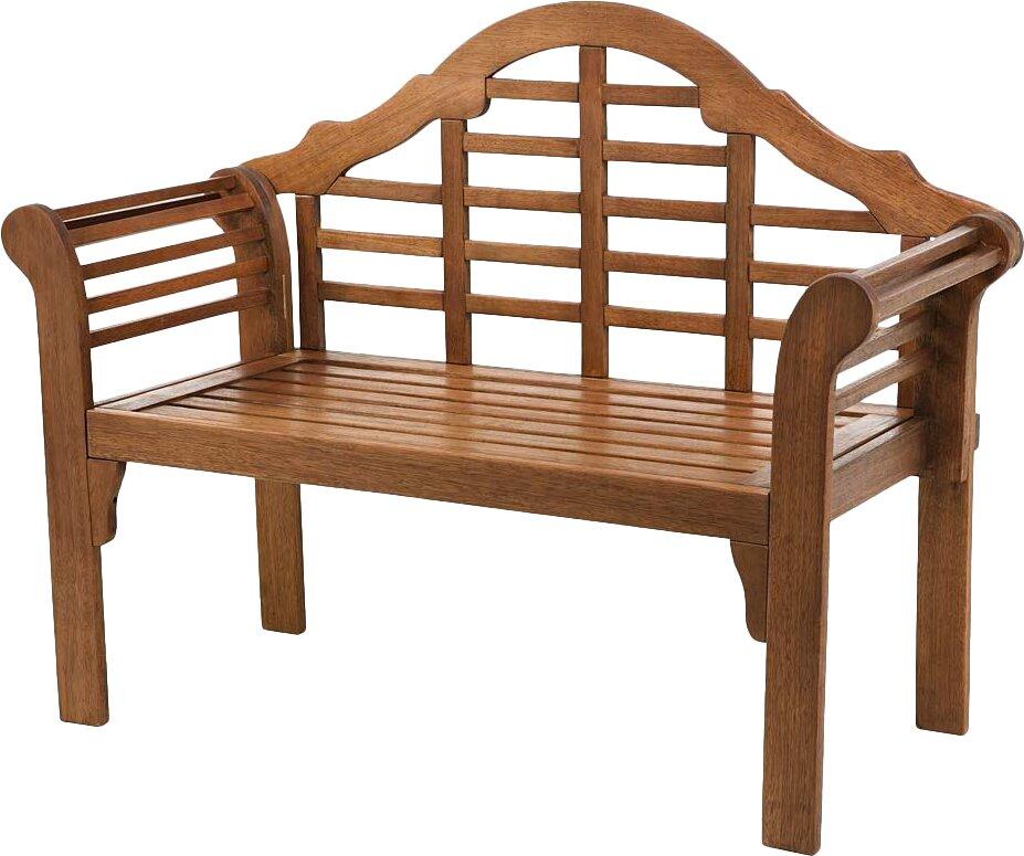 Plow & Hearth Lutyens Wood Garden Bench & Reviews