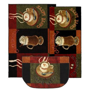 Amazing Lemasters 3 Piece Kitchen Caffe Latte Area Rug Set